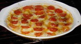 Semaine du 16 octobre : des tomates en automne : TOMATES A LA MOZZARELLE