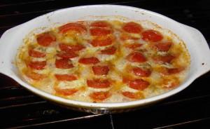 Semaine du 16 octobre : des tomates en automne : TOMATES A LA MOZZARELLE dans Eté tomatesmozza6-300x184